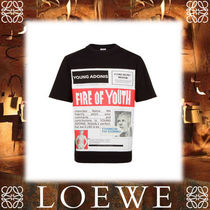 17AW新作★LOEWEロエベ★T-Shirt Fire Of Youth Poster ブラック