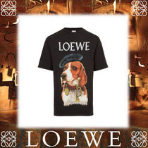 17AW新作★LOEWEロエベ★T-Shirt Loewe Dog Washed Black