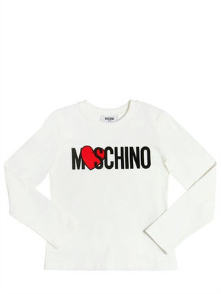 17AW 送関込★MOSCHINO ロゴ PRINTED コットン JERSEY Tシャツ
