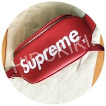 Louis Vuitton Supreme Bumbag Pm Leather EPI Waist bag Red 赤