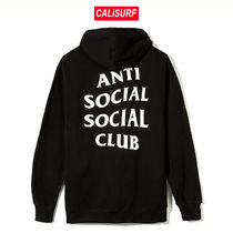 Sサイズ ANTISOCIAL CLUB Masochism Zip Up Hoodie/BLACK