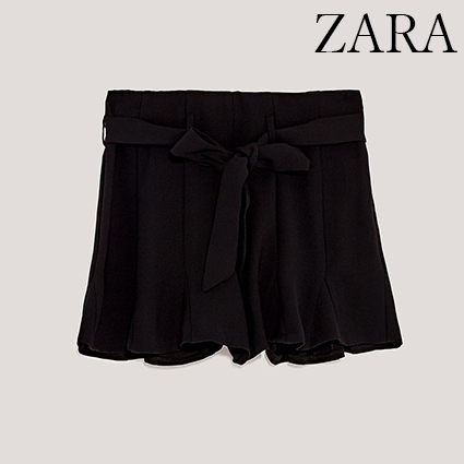 ●ZARA●秋新作♪FLOWING BERMUDA SHORTS WITH RUFFLED HEMS