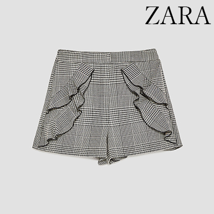 ●ZARA●秋新作♪BERMUDA SHORTS WITH FRILLS
