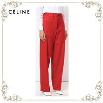 【17AW!新作!】★CELINE★high-waisted wide trousers