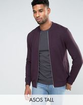 ASOS(エイソス) アウターその他 関税・送料込み ASOS TALL Jersey Bomber Jacket In Burg 先取り