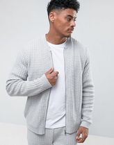 ASOS(エイソス) アウターその他 関税・送料込み ASOS Textured Bomber Jacket in Pale Gr 先取り