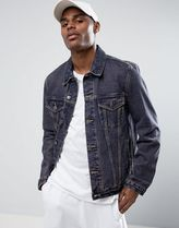 ASOS(エイソス) アウターその他 関税・送料込み ASOS Denim Jacket in Blue Wash With Ti 先取り