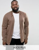 ASOS(エイソス) アウターその他 関税・送料込み ASOS PLUS Knitted Blazer In Light Brow 先取り