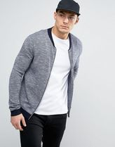 ASOS(エイソス) アウターその他 関税・送料込み ASOS Knitted Bomber Jacket With Contra 先取り