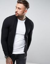ASOS(エイソス) アウターその他 関税・送料込み ASOS Muscle Fit Jersey Bomber Jacket I 先取り