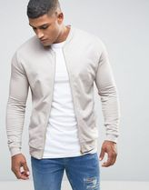 ASOS(エイソス) アウターその他 関税・送料込み ASOS Jersey Bomber Jacket In Off White 先取り