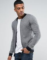 ASOS(エイソス) アウターその他 関税・送料込み ASOS Knitted Cotton Bomber with Contra 先取り