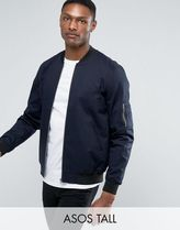 ASOS(エイソス) アウターその他 関税・送料込み ASOS TALL Bomber Jacket With Sleeve Zi 先取り