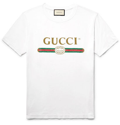 GUCCI Tシャツ・カットソー 関税送料込★GUCCI★LOGO プリント Tシャツ