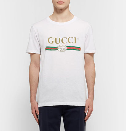 GUCCI Tシャツ・カットソー 関税送料込★GUCCI★LOGO プリント Tシャツ(2)