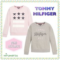 Tommy Hilfiger(トミーヒルフィガー) トップス 新作 TOMMY HILIFIGER KIDS★大人OK!グレー&ピンク スウェット