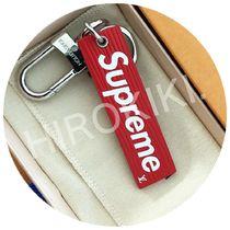 Louis Vuitton Supreme Downtown Tab Charm Epi キーホルダー 赤