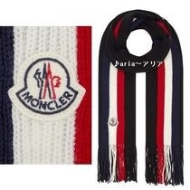 【関税送料込】MONCLER Stripe Virgin Wool Scarf♪