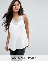 ASOS(エイソス) トップス 大人気!Maternity Vest with Lace and Mesh  ASOS マタニティー