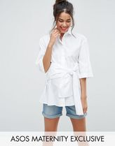 ASOS(エイソス) トップス 大人気!Maternity Shirt with Tie Waist ASOS マタニティー
