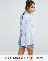 ASOS(エイソス) トップス 大人気!Maternity Mixed Stripe Shirt with  ASOS マタニティー