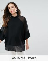 ASOS(エイソス) トップス 大人気!Maternity Sheer and Solid Oversize ASOS マタニティー