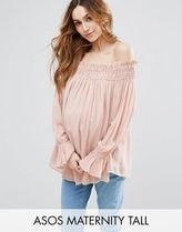 ASOS(エイソス) トップス 大人気!Maternity TALL Off Shoulder Top wi ASOS マタニティー