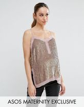 ASOS(エイソス) トップス 大人気!Maternity Sequin Cami Top with She ASOS マタニティー