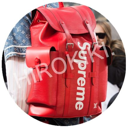 Louis Vuitton Supreme Christopher Backpack バックパック 赤