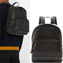 PRM034 CALF & SAFFIANO LEATHER BACKPACK