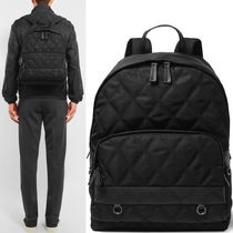 PRM034 QUILTED NYLON & SAFFIANO LEATHER BACKPACK