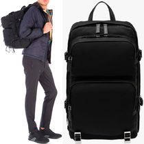 PRM035 NYLON & SAFFIANO LEATHER BACKPACK