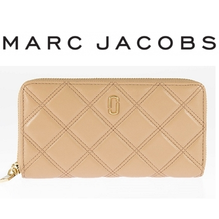 17秋冬 ☆MARC JACOBS☆ DOUBLE J MATELASSE 長財布 MOJAVE♪