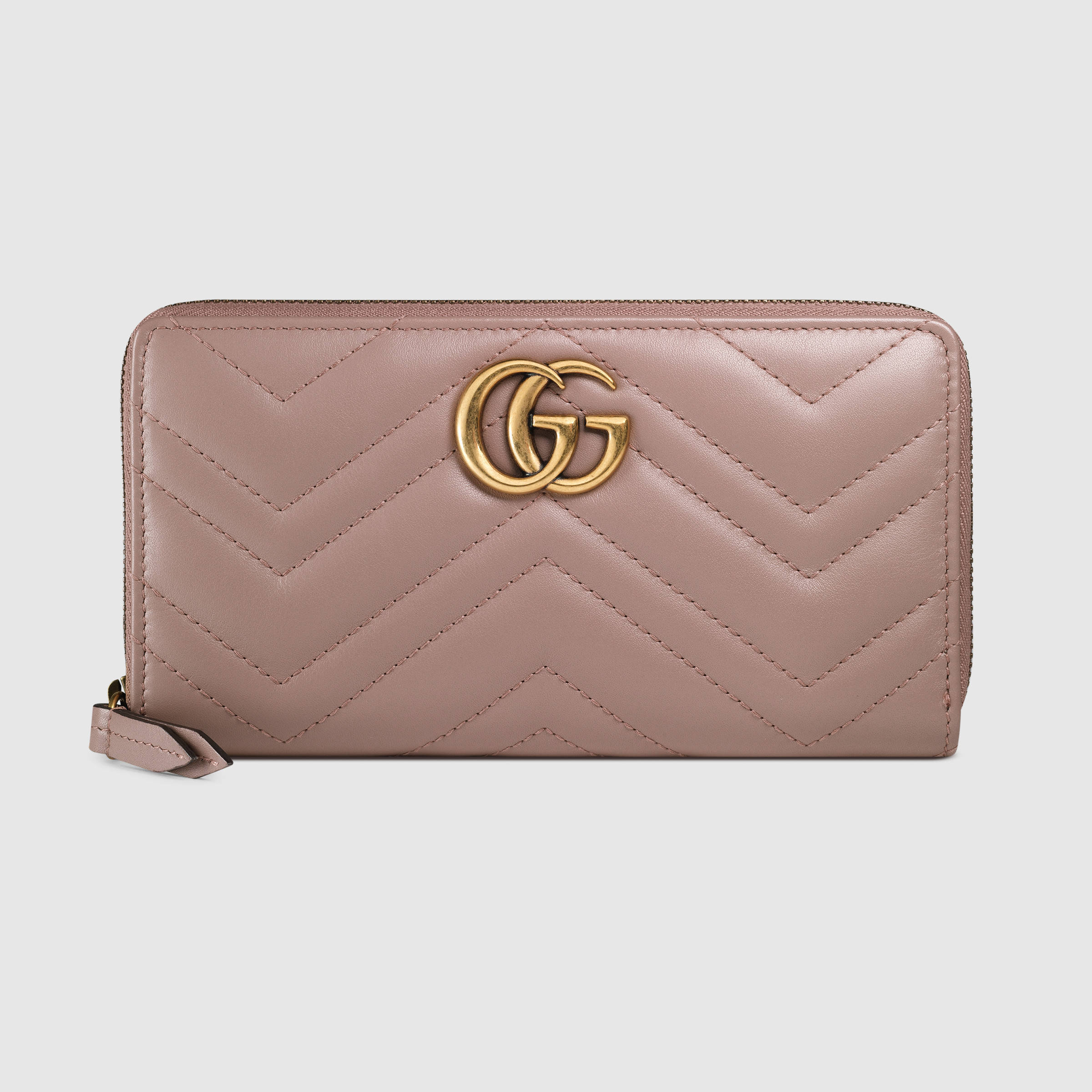 【関税負担】 GUCCI GG MARMONT ZIP AROUND WALLET