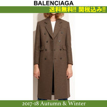 2017AW新作,関税込★バレンシアガ★Hound's-tooth printed coat