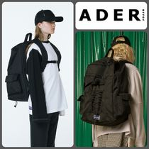 【ADERERROR】正規品★UNISEX Lace-up バックパック BLK/追跡付