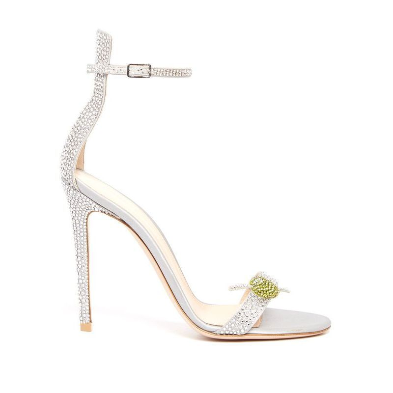 【Gianvito Rossi】 Martini crystal-embellished satin sandals