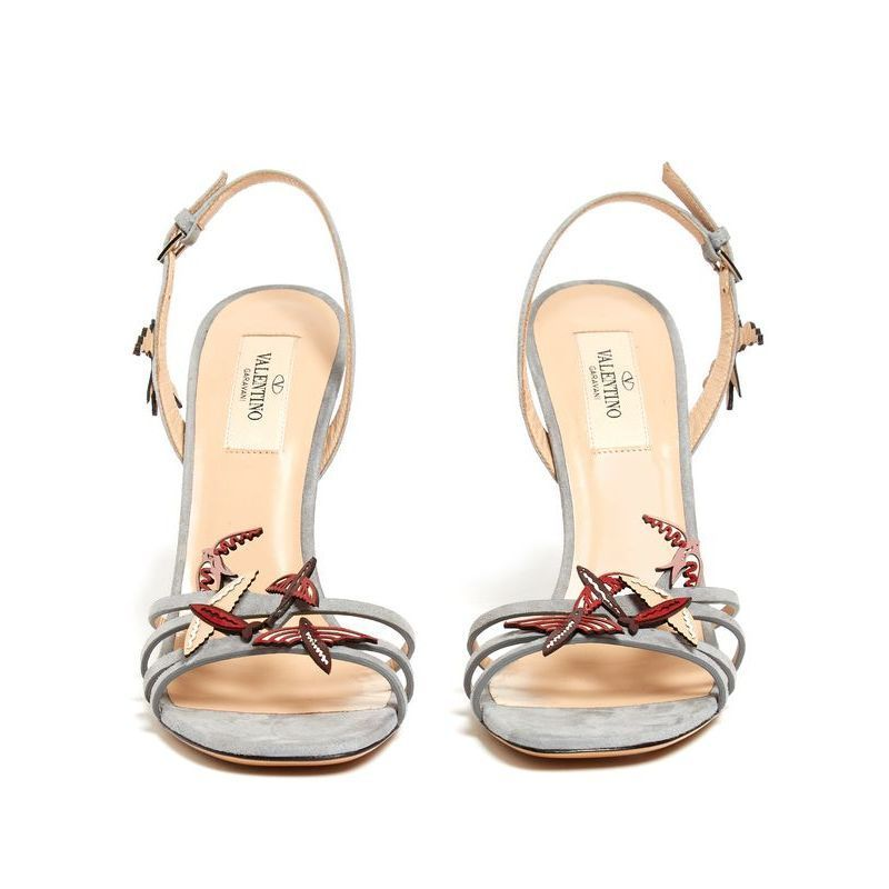 【VALENTINO】 Garden of Earthly Delights suede sandals