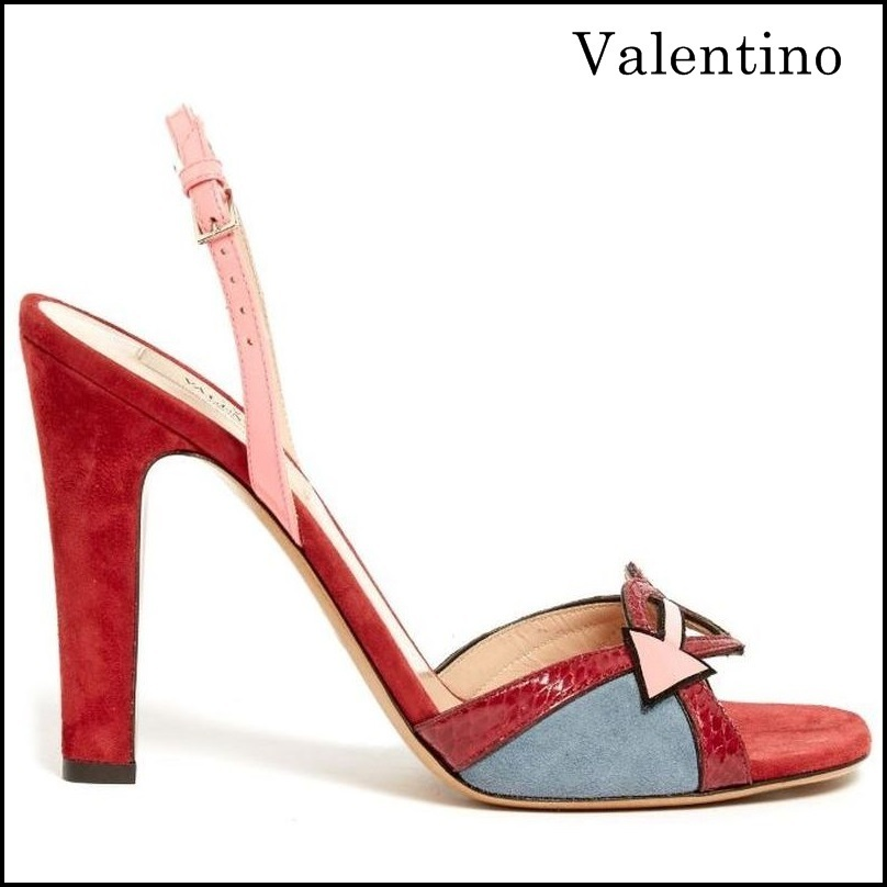 【VALENTINO】 Love Blade suede and leather sandals