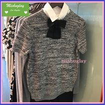 【kate spade】嬉しい再販★リボンが可愛い♪collared sweater★