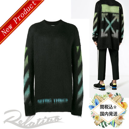 17AW★関税込【Off-White】Brushed Arrows セーター