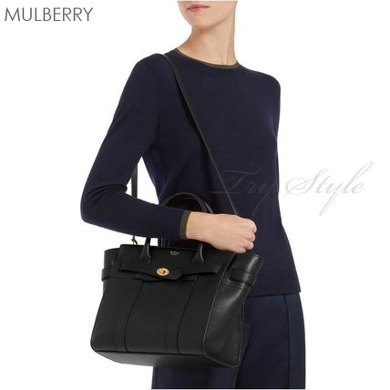 Mulberry ハンドバッグ 17-18AW★Mulberry ストラップ付き 2WAY Small Zipped Bayswater(4)