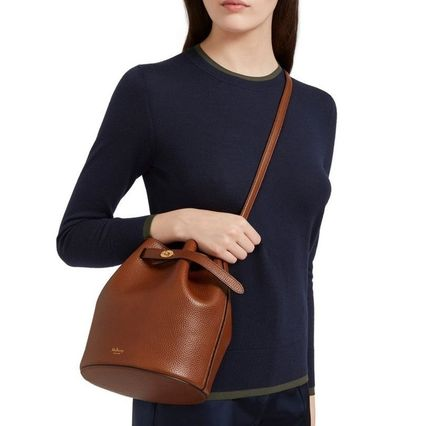 Mulberry ショルダーバッグ・ポシェット 国内発| Mulberry  Abbey バケットバッグ Oak(6)