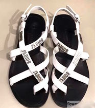 ◆CHRISTIAN DIOR  J'adior Flat White Sandals◆