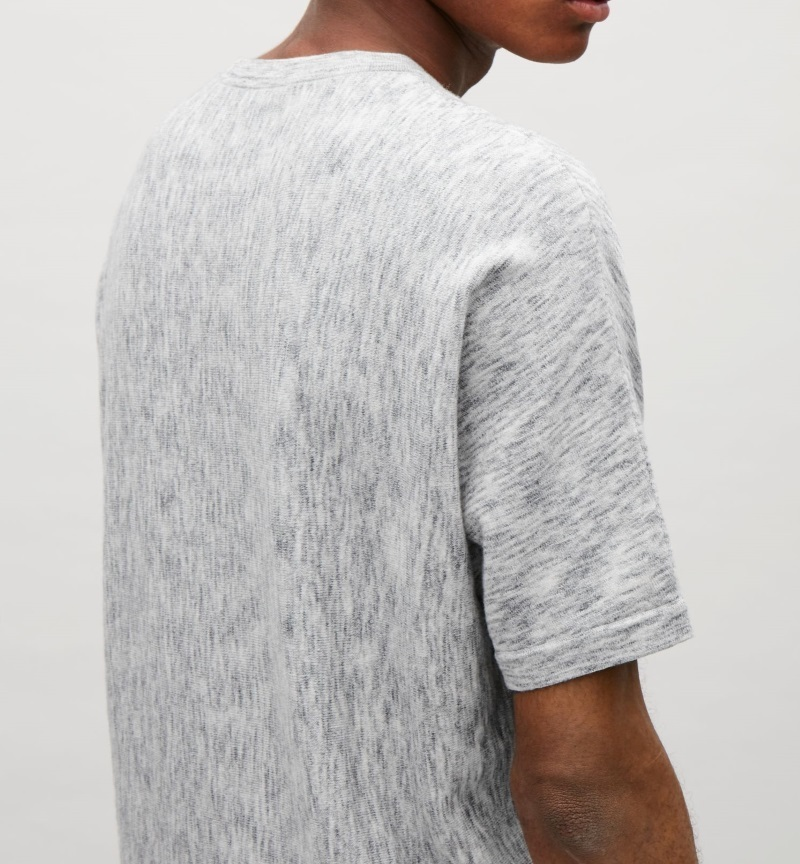 """COS MEN""KNITTED MELANGE TOP GRAY"