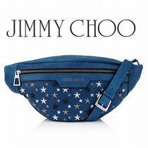 2017-18AW☆JIMMY CHOO☆DERRY  Neon Blue クロスボディバッグ
