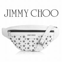 2017-18AW☆JIMMY CHOO☆DERRY Optical White ボディバッグ