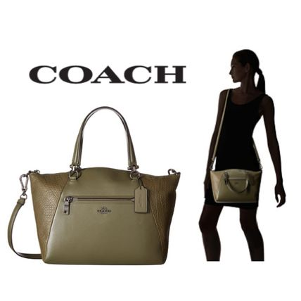 Sale★【COACH】バッグ★ Mixed Leather Prairie Satchel