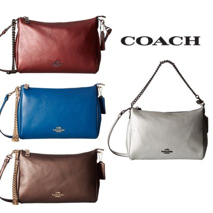 Sale★【COACH】クロスボディバッグ★ Leather Carrie Crossbody