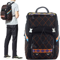 PRM052 QUILTED NYLON & SAFFIANO BACKPACK